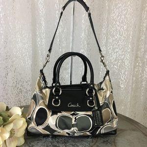 COACH Ashley Scarf Print Satchel Handbag F17650